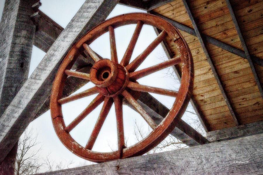 2d Photograph - Wagon Wheel by Brian Wallace