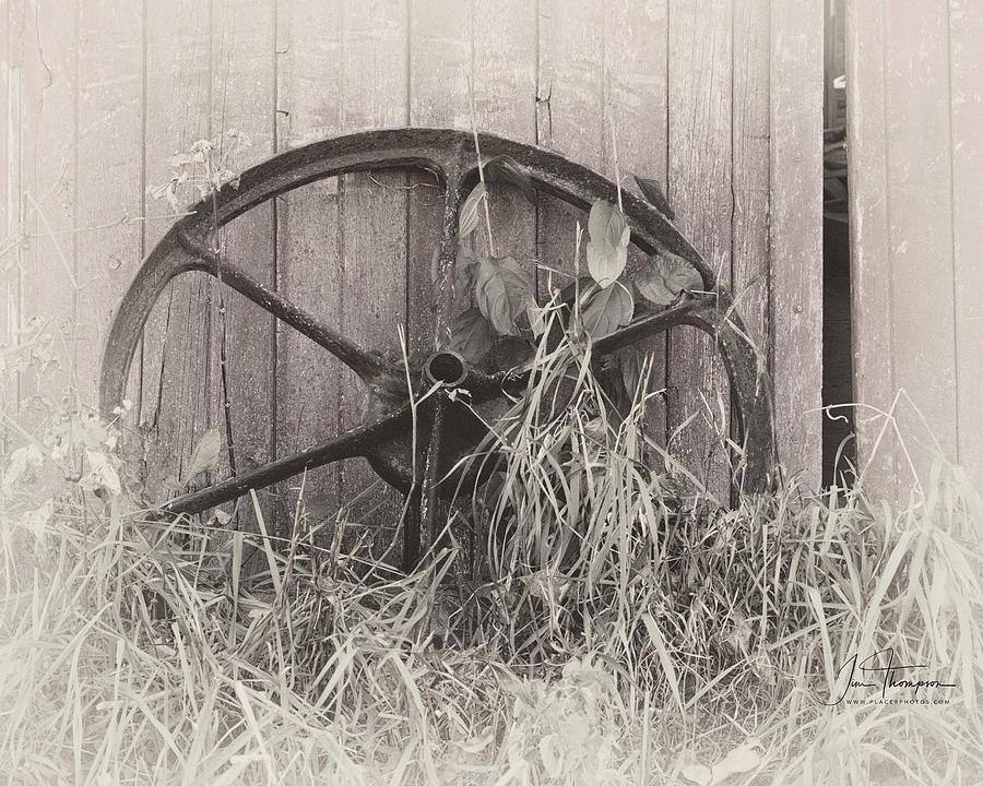 Farm Life Photograph - Wagon Wheel by Jim Thompson