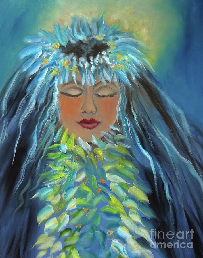 Polynesian Girl Painting - Wahine 11 by Jenny Lee