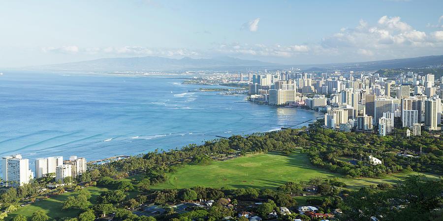 Waikiki Panorama, Oahu, Hawaii Photograph by Picturelake
