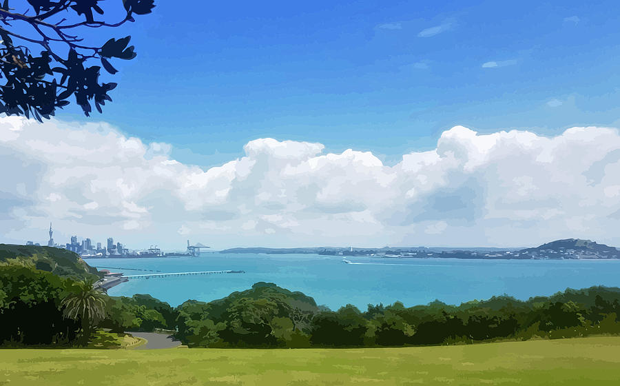 Waitemata Harbour Auckland by Clive Littin