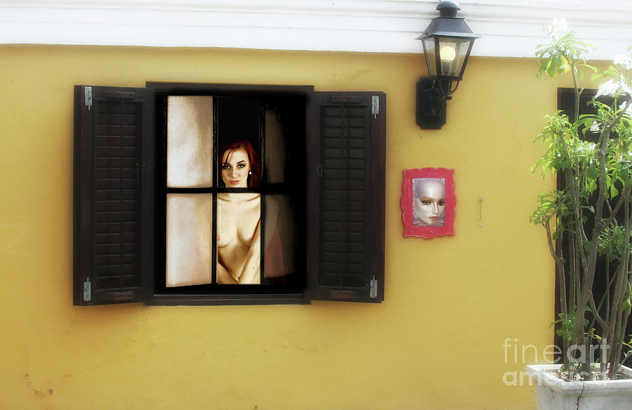 Beauty Photograph - Waiting At The Window  by ManDig Studios