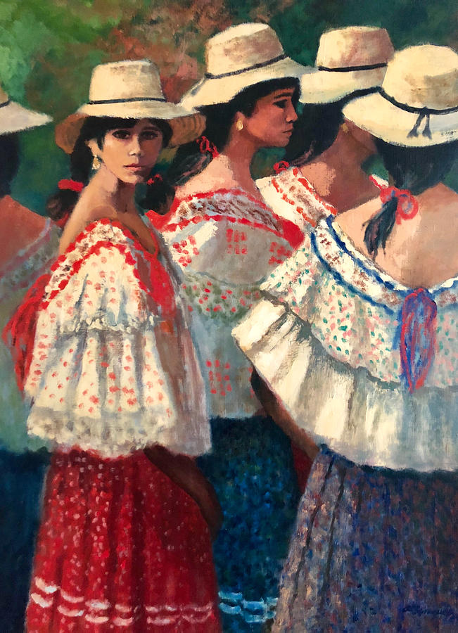 Panama Painting - Waiting For The Dance by Al Sprague