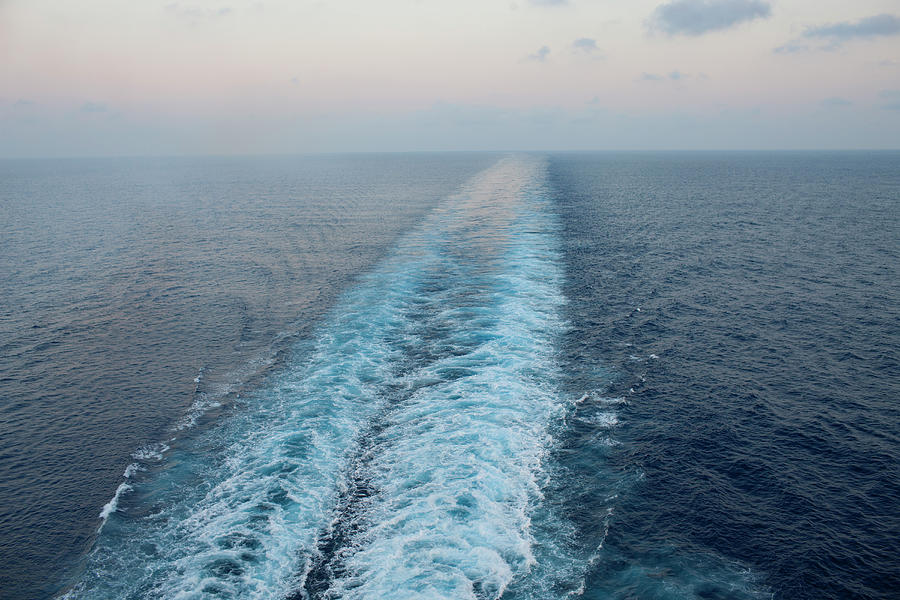 Wake From Cruise Ship Photograph by David Sacks