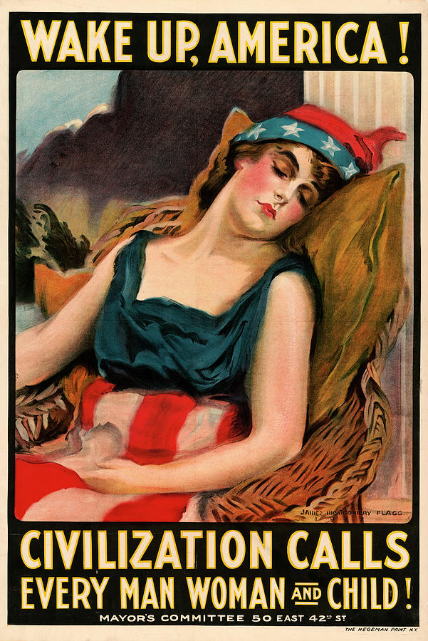 Wake up America Poster by Carlos Diaz