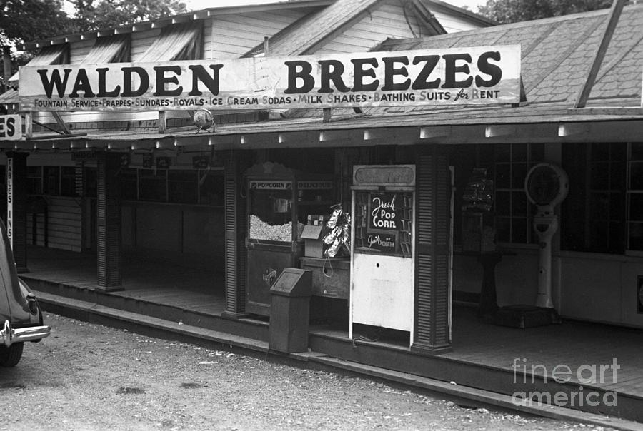 Walden Pond Shop, 1937 by Edwin Locke