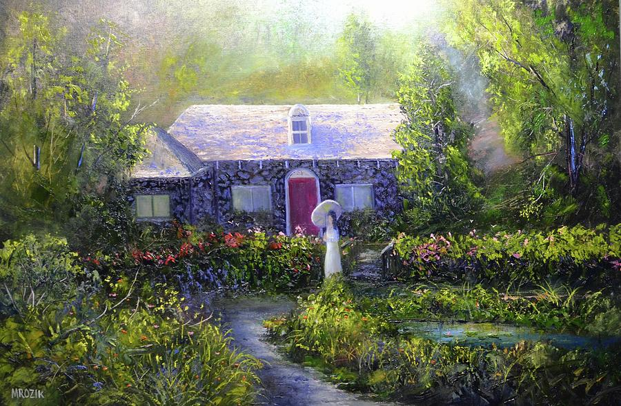 Walk In The Garden Painting