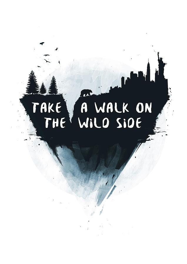 Bear Mixed Media - Walk on the wild side  by Balazs Solti