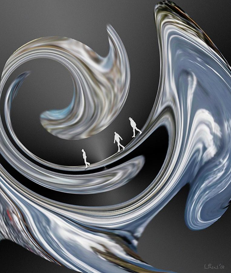 Abstract Digital Art - Walk On The Wild Side. by Bill Linn