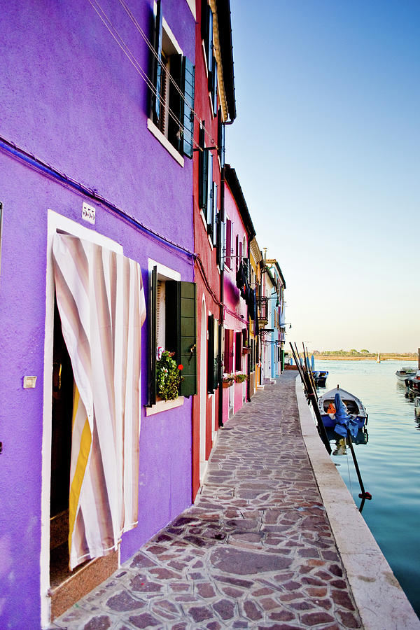 Walk Through Burano Photograph by A Photo Is Like A Painting.