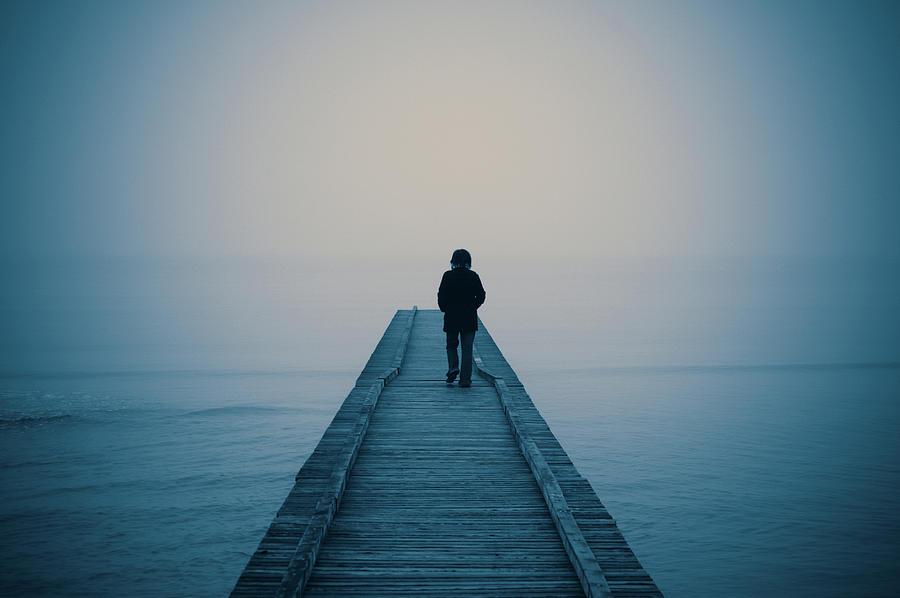 Walking Alone Photograph by Profeta