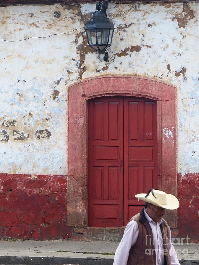Walking By In Patzcuaro by Rosanne Licciardi