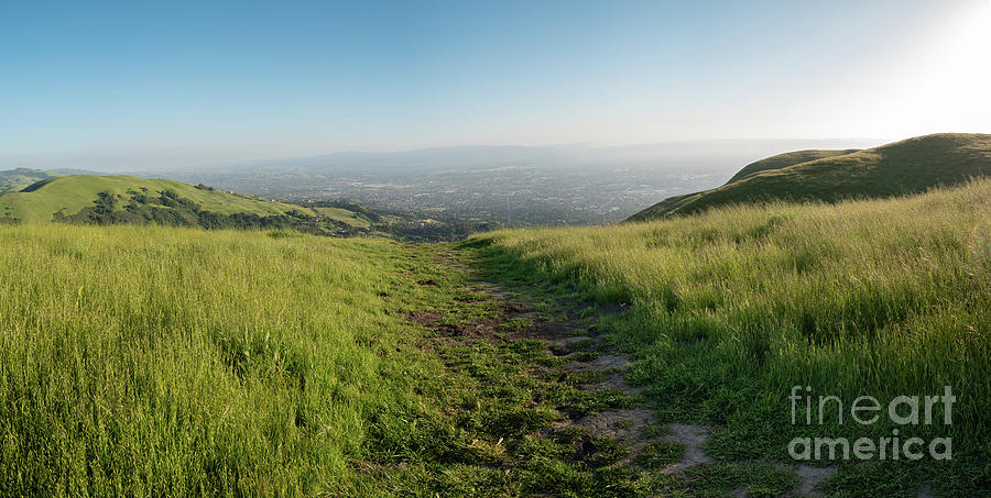 California Photograph - Walking Downhill Large Trail With Silicon Valley At The End by PorqueNo Studios