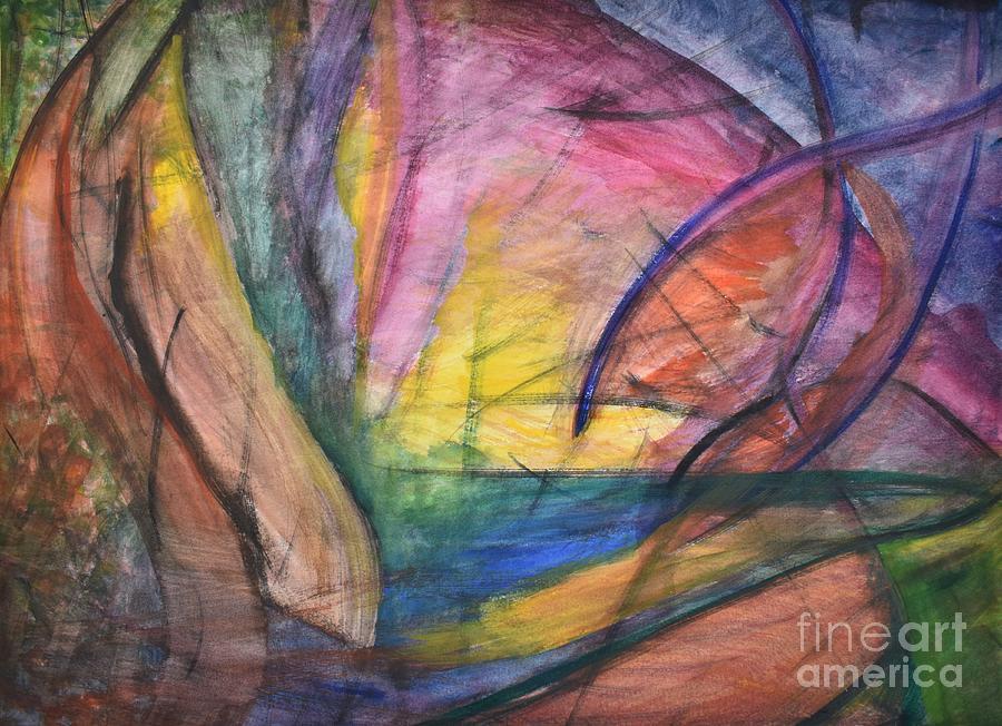 Abstract Painting - Walking Far by Tammy Nara