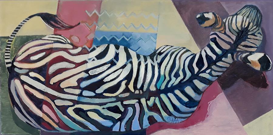 Zebra Painting - Walking by GALA Koleva
