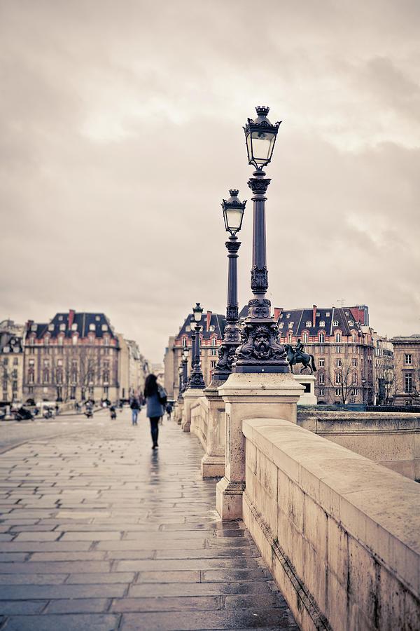 Walking In Pont Neuf, Paris, France Photograph by Zodebala