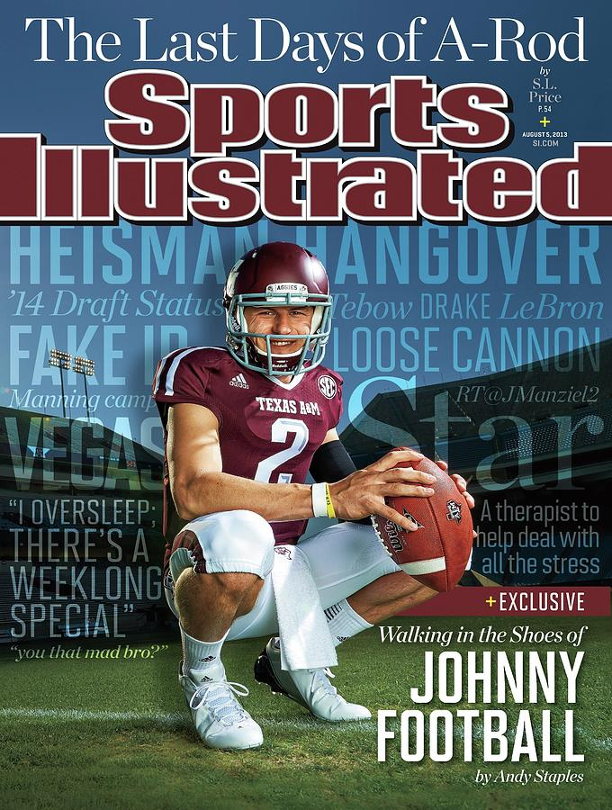 Walking In The Shoes Of Johnny Manziel Sports Illustrated Cover Photograph by Sports Illustrated