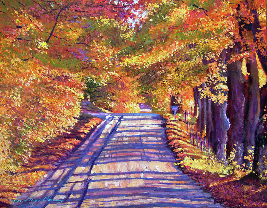 Walking In Vermont Painting