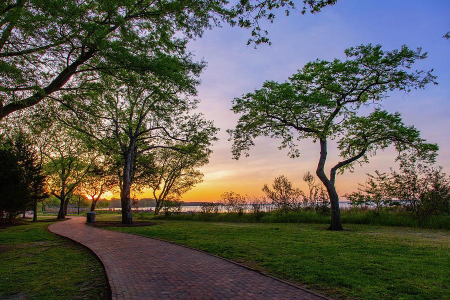 Walking Path At Sunset Photograph