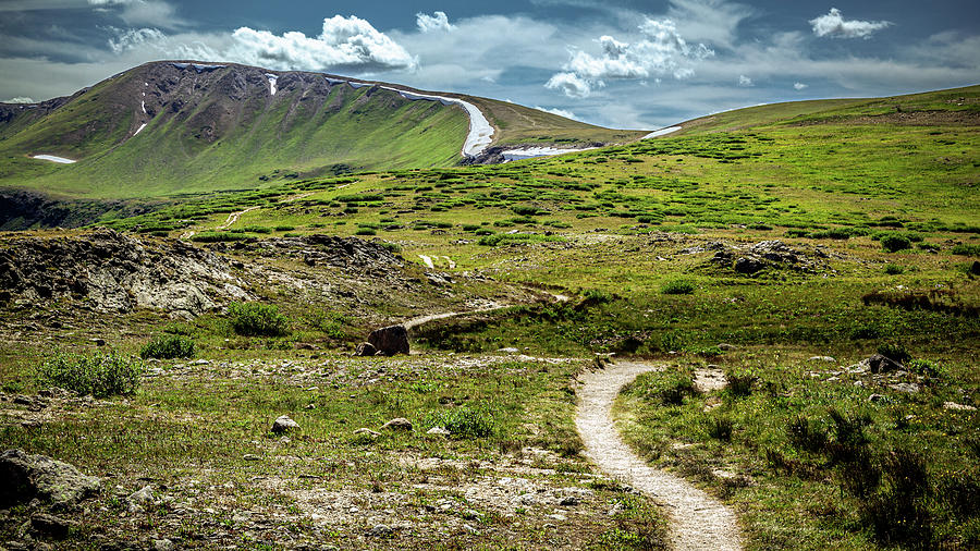 Walking Path At The Summit of Independence Pass by Jeanette Fellows