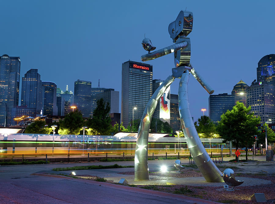 Walking Tall Dallas Texas 070219 by Rospotte Photography