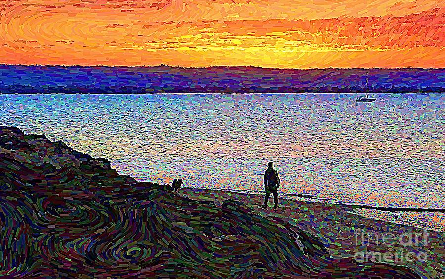 Walking The Dog by Trudee Hunter