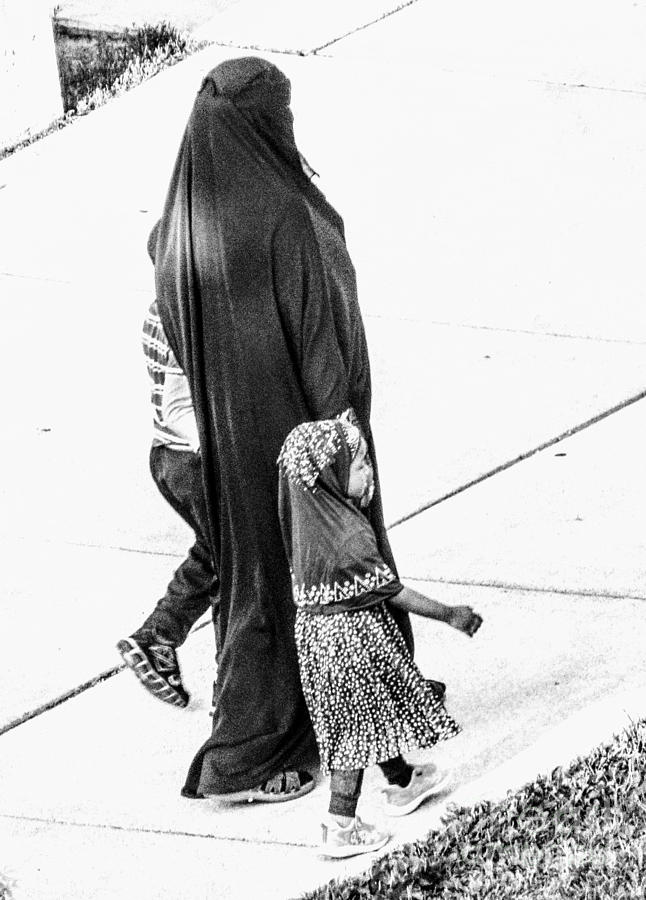Walking With Mom Photograph