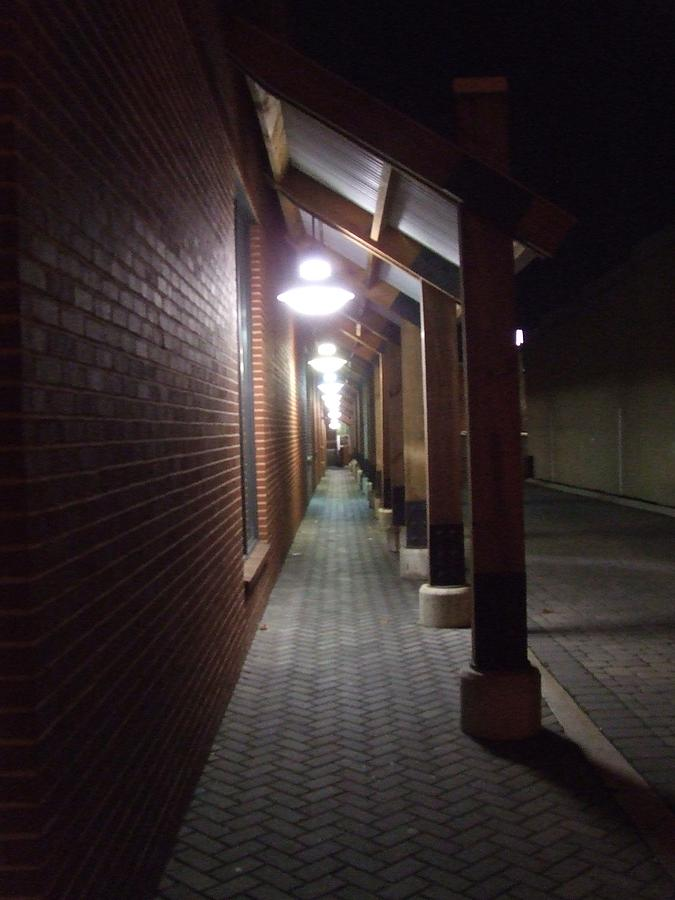 Walkway at Night by Ty Unglebower