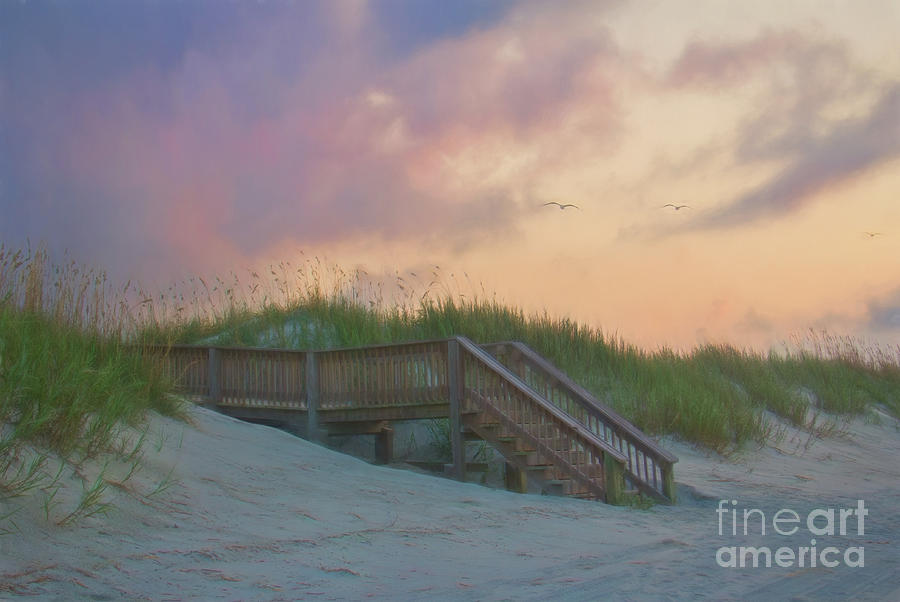 Walkway in Watercolor by Michelle Tinger