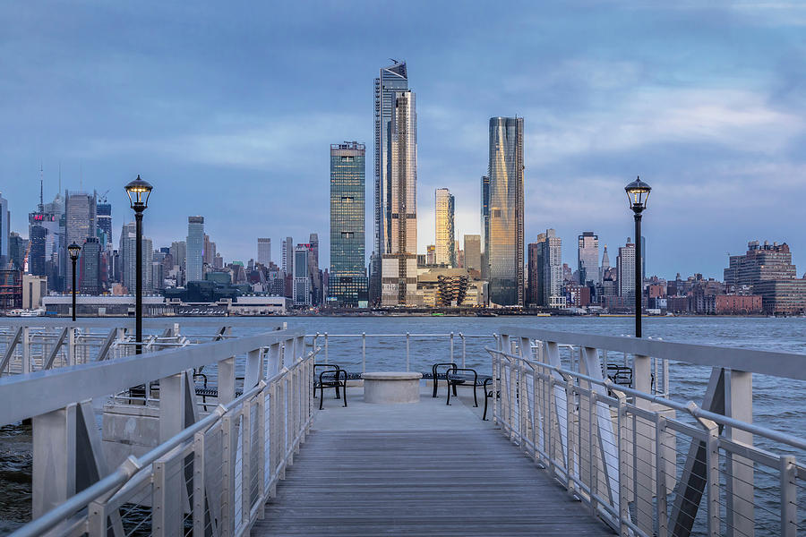 Walkway To The New York City Skyline  by Susan Candelario