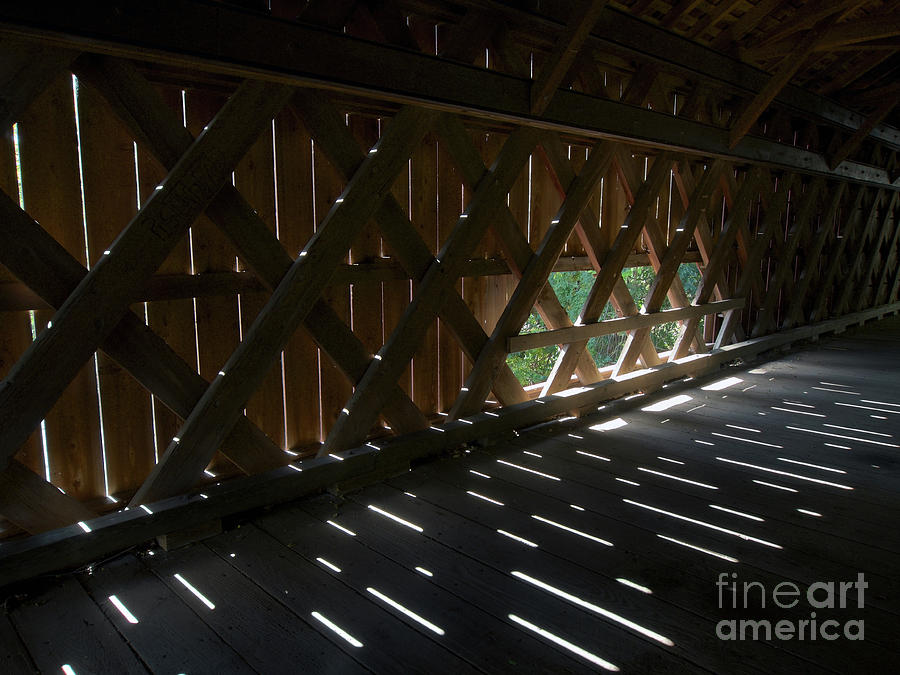 Wall and Window of Uhlerstown Covered Bridge by Mark Miller