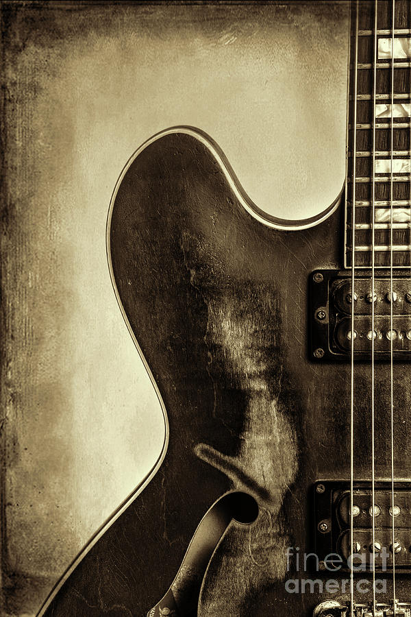 Wall Art Gibson Guitar Image 1744.32 by M K Miller