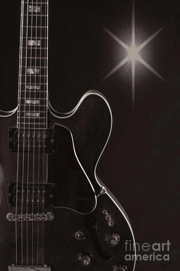 Wall Art Sky Gibson Guitar Image 1744.009 by M K Miller