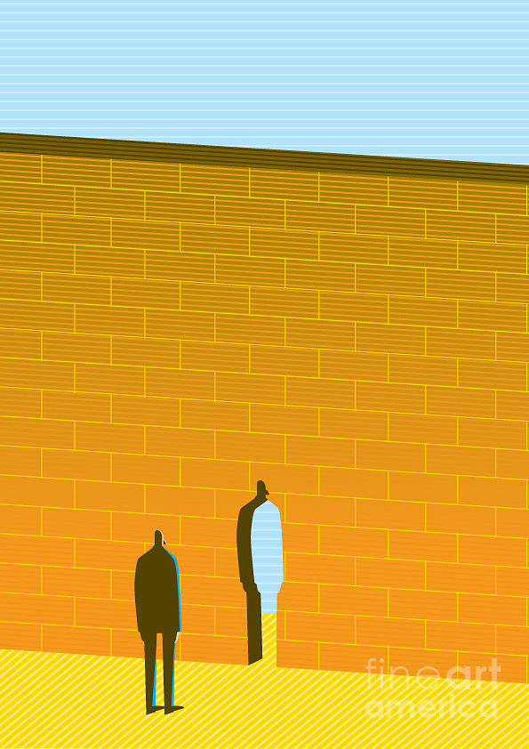 Door Digital Art - Wall by Bbay