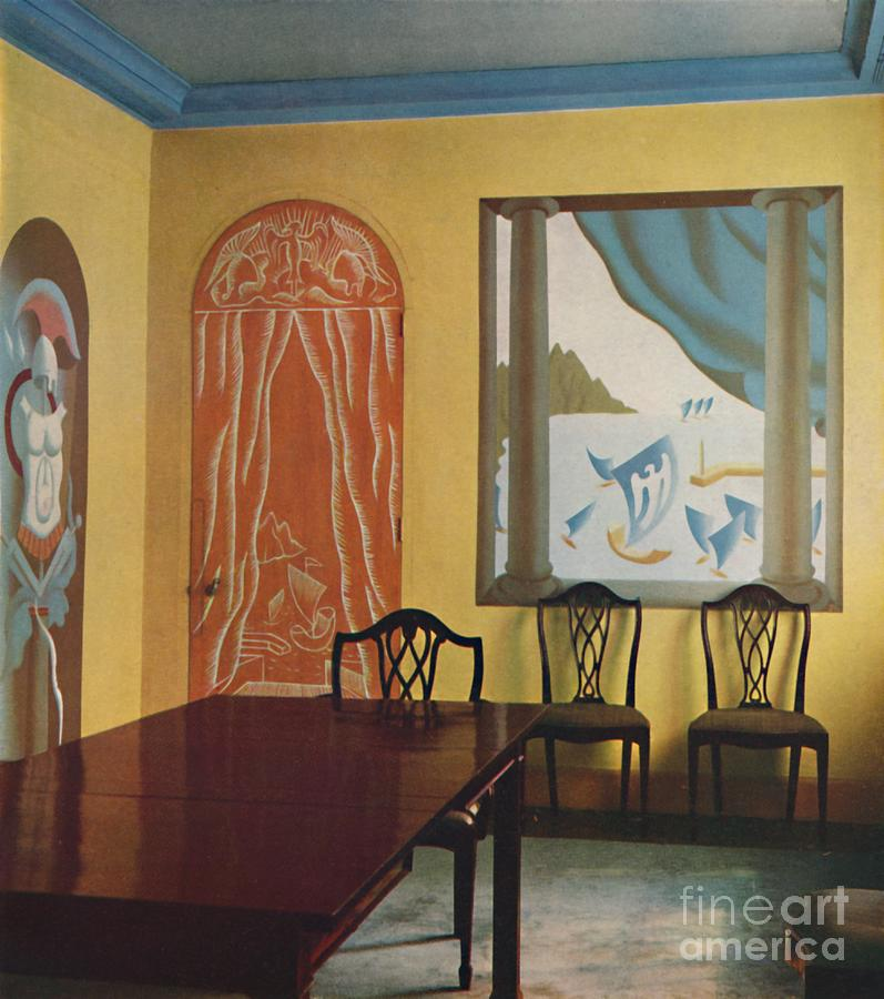 Wall Decorations In A Flat At Portman Drawing by Print Collector