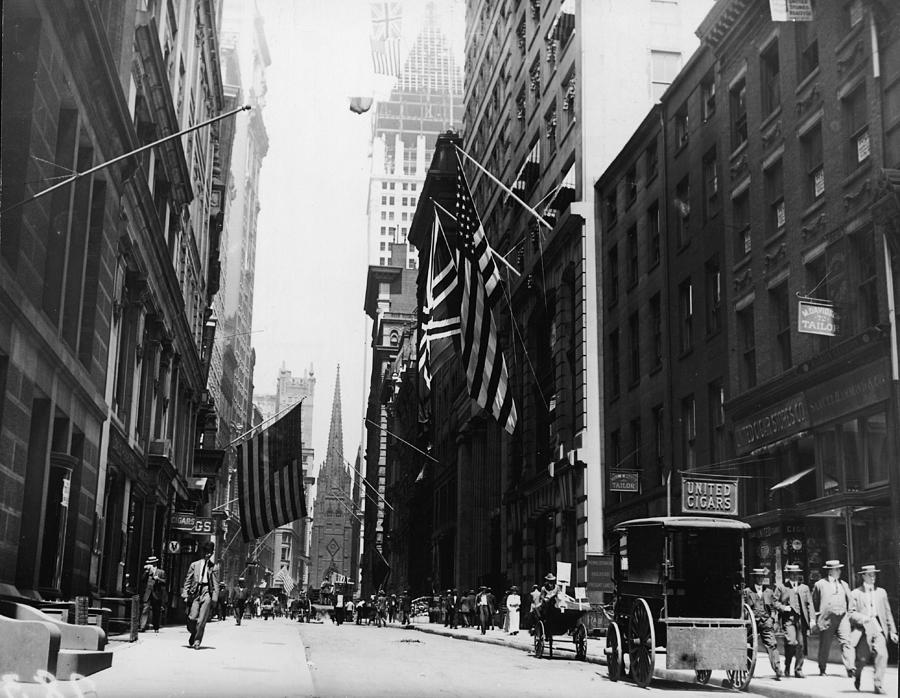 Wall Street Photograph by Fpg