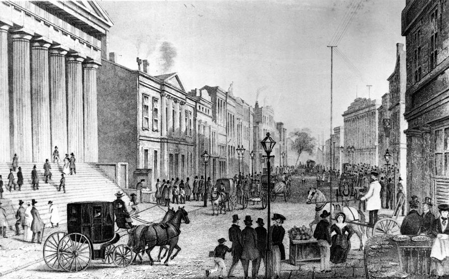 Wall Street In 1860s Photograph by Fpg