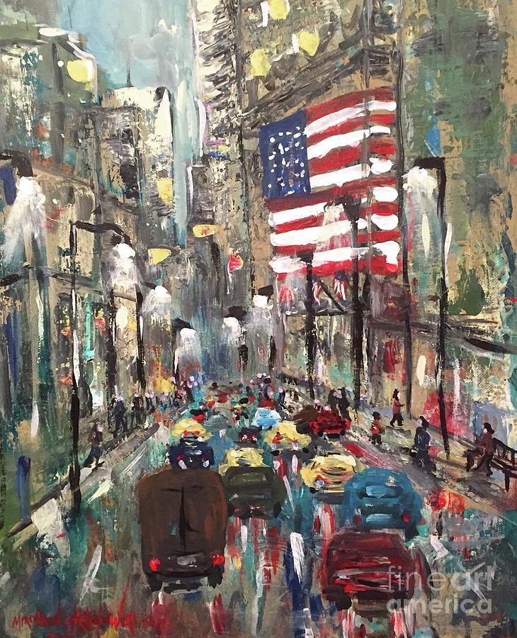 wall street NY by Miroslaw  Chelchowski