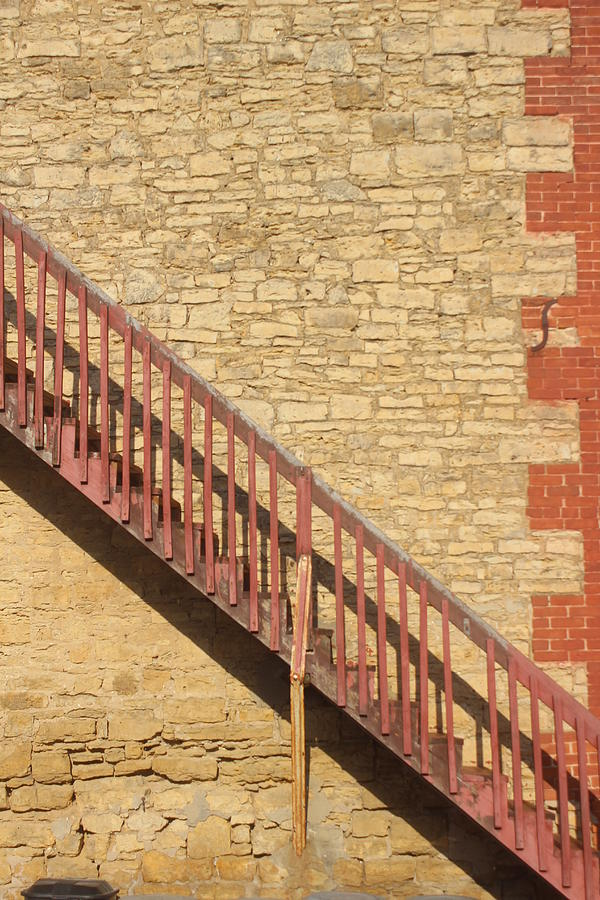 Staircase Photograph - Wall With Staircase by Callen Harty