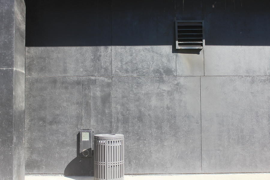 Wall Photograph - Wall With Waste Receptacle by Callen Harty