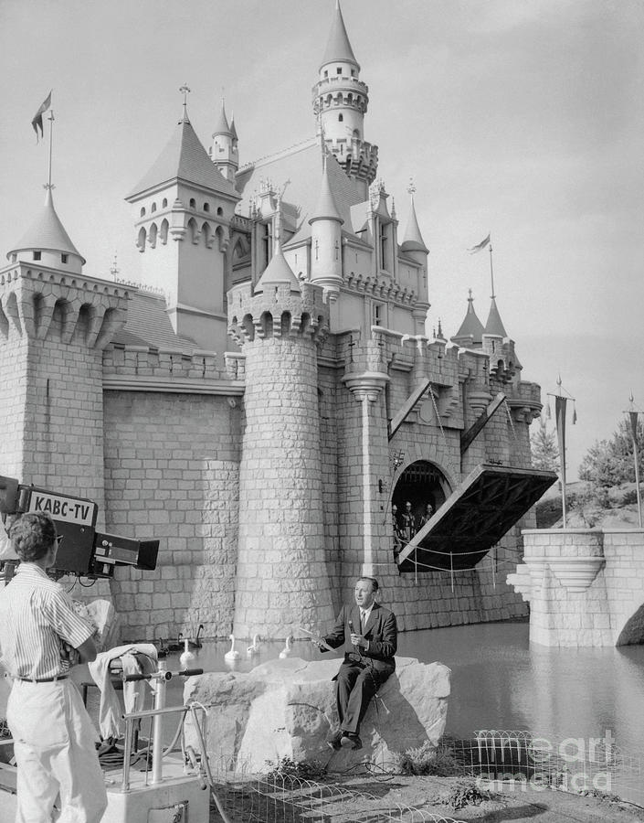 Walt Disney Announcing Disneylands Photograph by Bettmann
