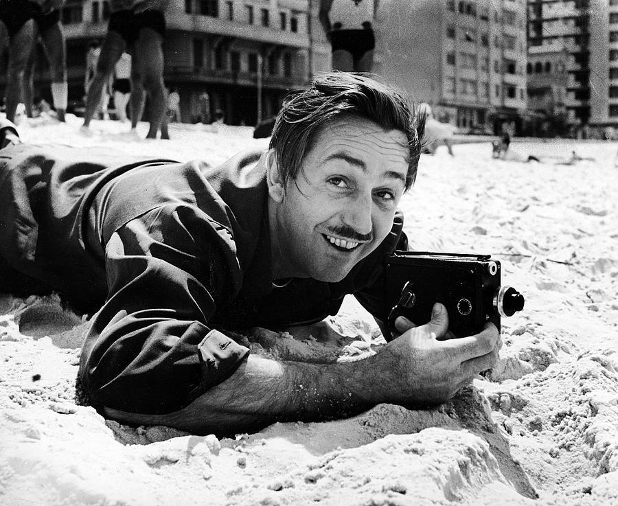 Walt Disney On Copacabana Beach Photograph by Hart Preston