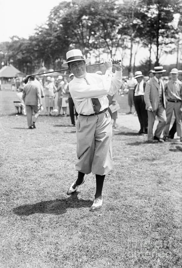Walter Hagen Swinging Golf Club by Bettmann