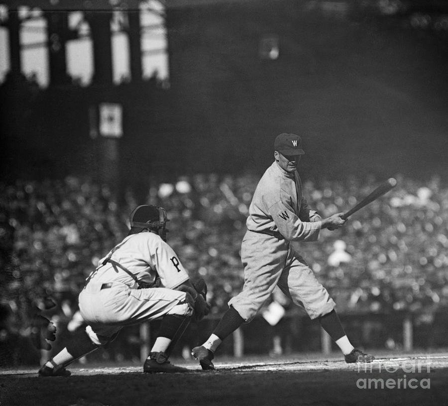 Walter Johnson Shown At Batworld Series Photograph by Bettmann
