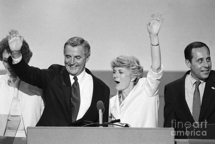 Walter Mondale And Geraldine Ferraro Photograph by Bettmann