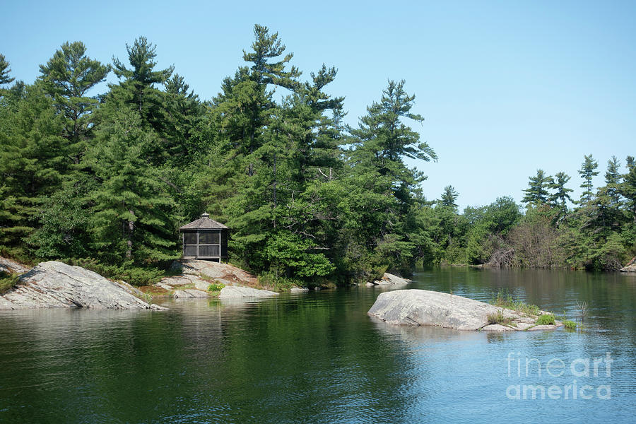 Wani Bay is a protected anchorage off Georgian Bay Ontario by Louise Heusinkveld