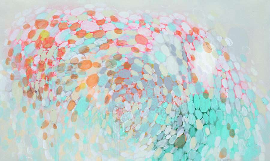Abstract Painting - Want To Go by Claire Desjardins