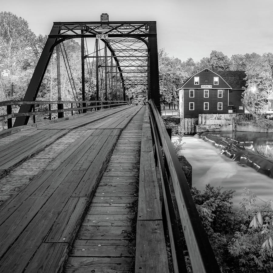 America Photograph - War Eagle Bridge And Mill - Infrared Monochrome 1x1 by Gregory Ballos
