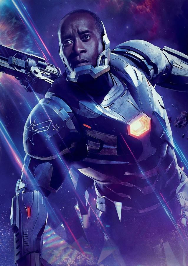 Iron Man Digital Art - War Machine Avengers Endgame by Geek N Rock
