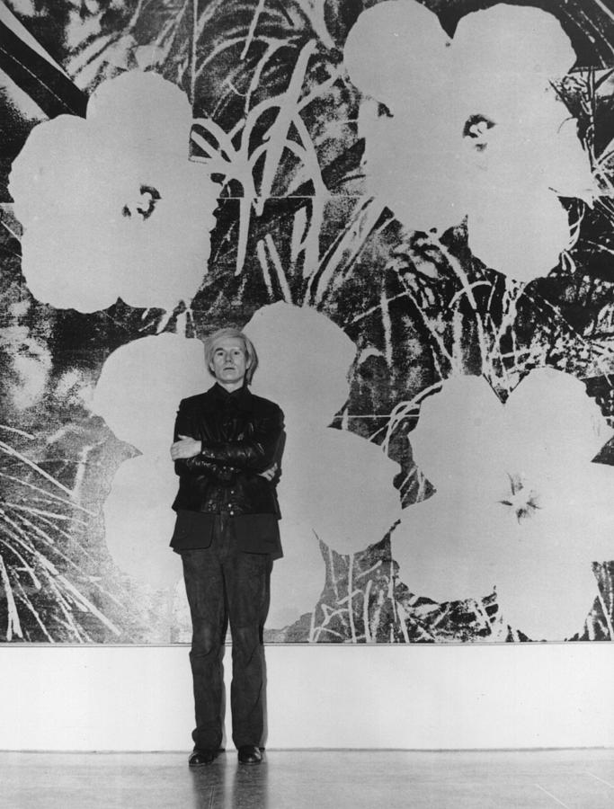 Warhols Flowers Photograph by Evening Standard